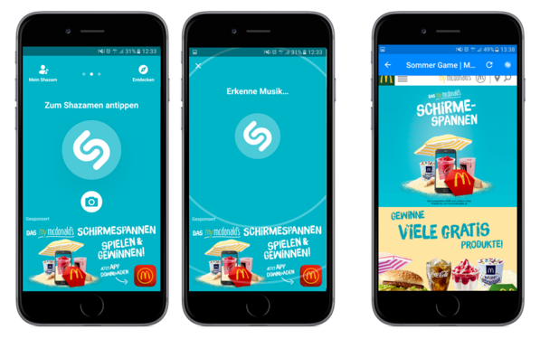 Shazam YOC Publisher for stunning advertising campaigns with MCDonalds